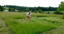 Paul mowing the 5x5