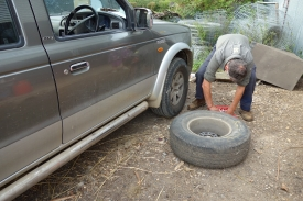 Tyre repair!