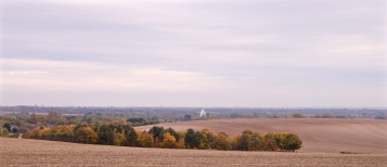 Autumn colours just over the hill looking towards Cambridge