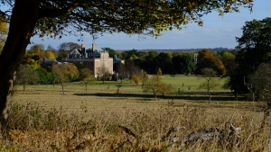 Wimpole hall in late autumn
