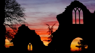 Sunset up at the folly