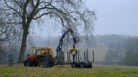 Removal of the Capability Brown easels