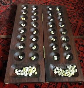 A black walnut boa board