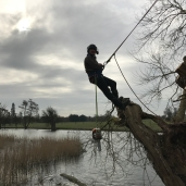 Taking a break up the willow